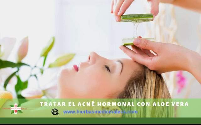 aloe vera para acné hormonal