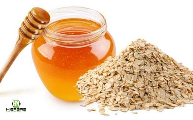 avena con miel para combatir el acne juvenil
