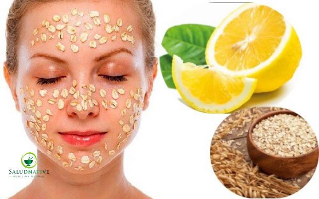 limon y avena para las manchas de la cara