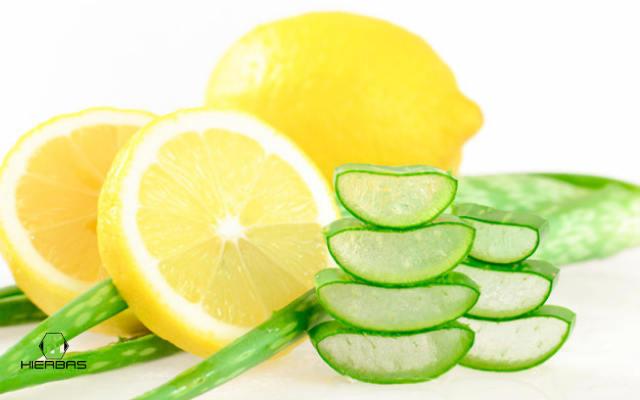 mascarilla de limon azucar y aloe vera para espinillas en el pecho